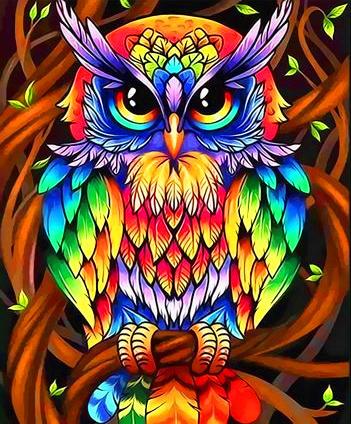 Картина по номерам 40x50 Лесной филин
